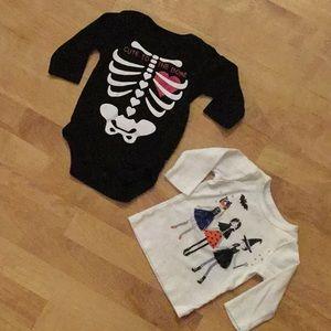 Halloween bundle size 0-3 onesie/ 3M shirt
